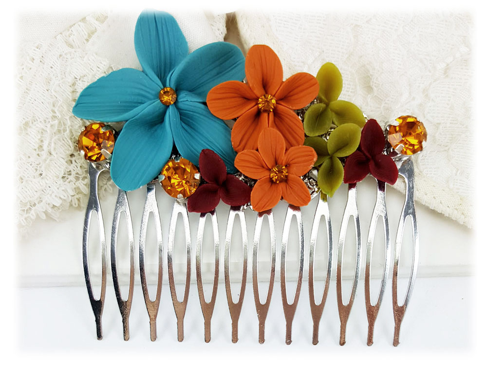 Art Deco Color Style Hair Comb