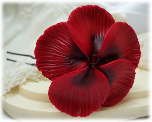 baabff79663 Red Hibiscus Hair Pins | Red Hibiscus Hair Clips - Stranded Treasures