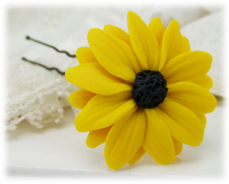 Black eyed susan hair flowers stranded treasures black eyed susan hair pin mightylinksfo