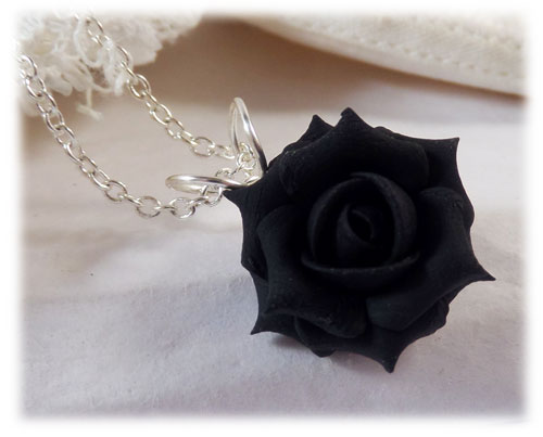Black Rose Necklace  1712e6ec05