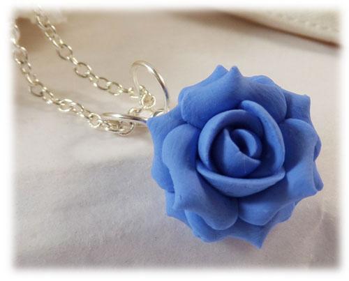 Blue Rose Necklace Stranded Treasures