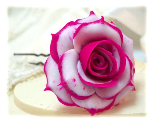 blushing rose hair pins