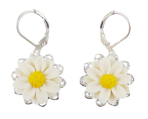 find aranji the on white stud happy jewelry earrings savings shop best etsy daisy