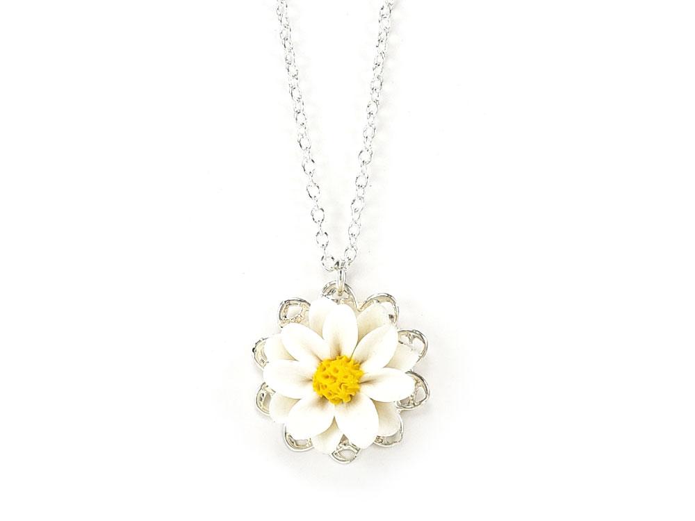 Daisy Charm Necklace Daisy Jewelry Stranded Treasures