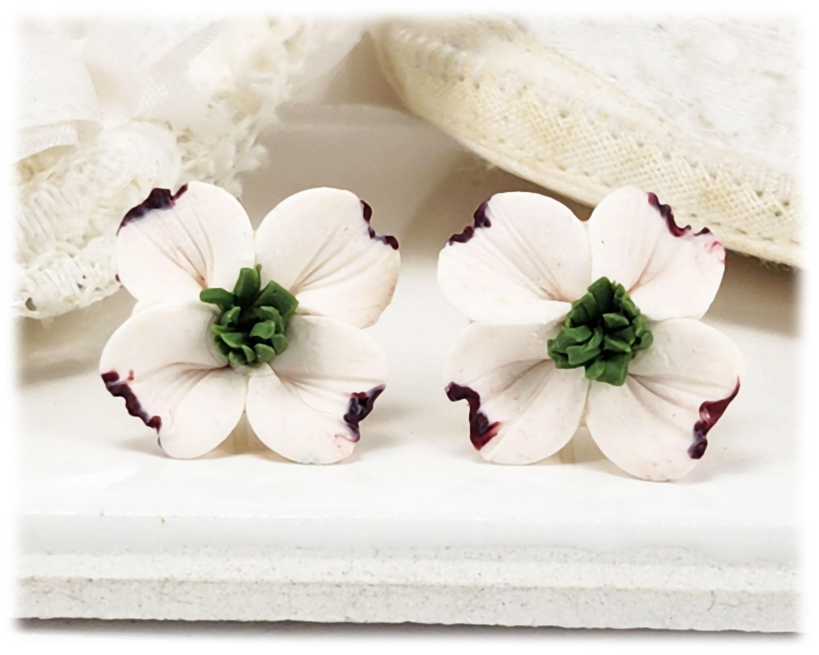 b0e6761bc3b2 Flower Stud Earrings and Clip On Earrings