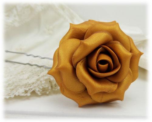 Metallic Gold Rose Hair Pins Amp Hair Clips Stranded Treasures