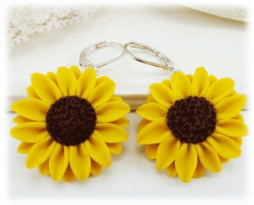 Sunflower jewelry a collection of handmade sunflower designs mightylinksfo Choice Image