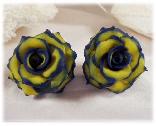 Yellow rose earrings stud drop and dangle styles mightylinksfo