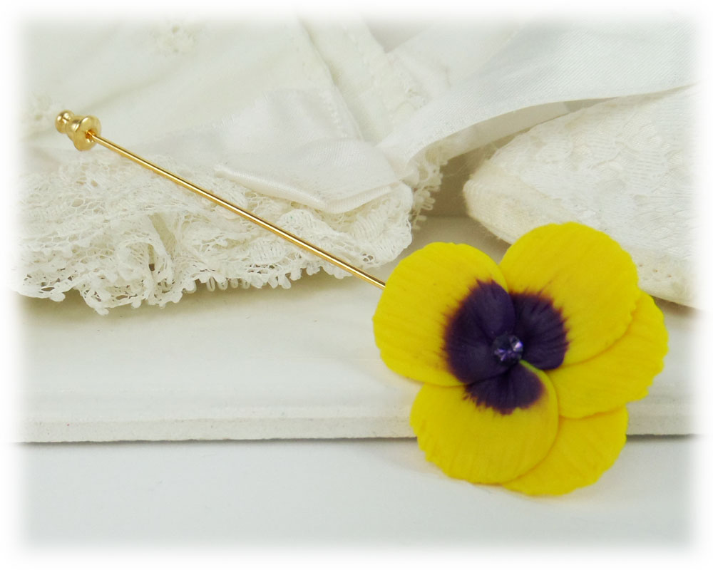 53a3f04c633 Pansy Brooch   Pansy Stick Pin   Pansy Lapel - Stranded Treasures