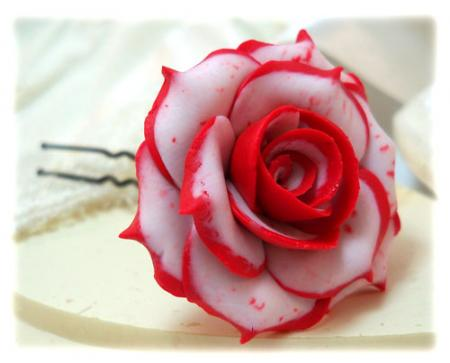 Double Delight Rose Hair Pins