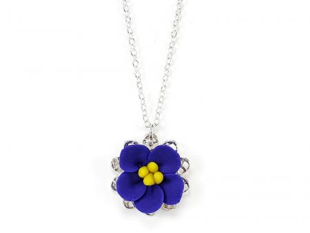 African Violet Charm Necklace