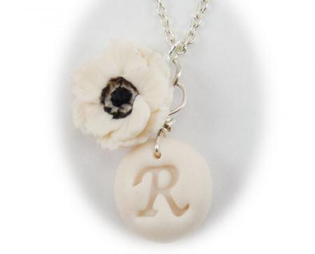 Anemone Initial Necklace