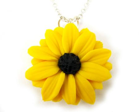 Black Eyed Susan Necklace