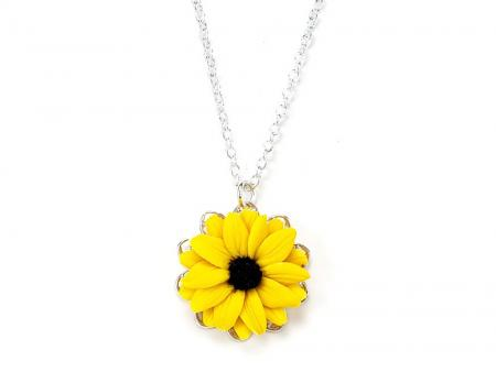 Black Eyed Susan Charm Necklace