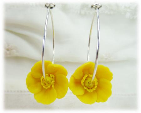 Buttercup Hoop Earrings