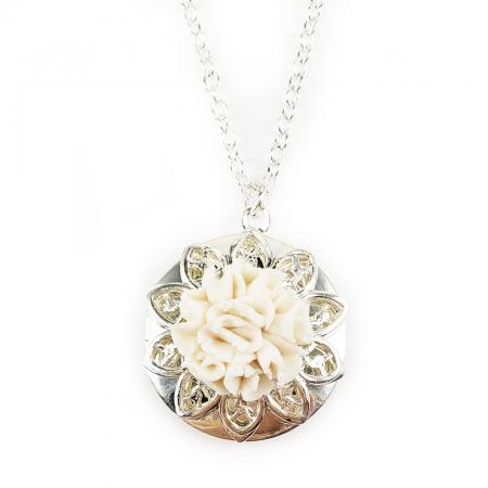 Carnation Locket Necklace