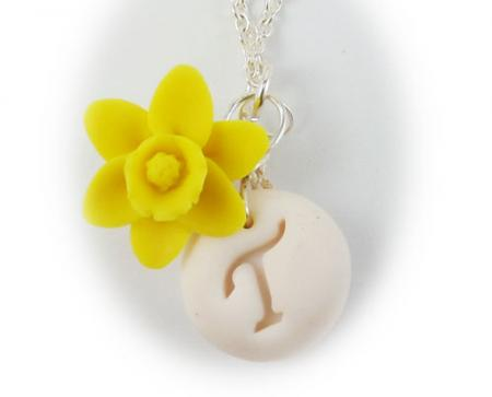 Daffodil Initial Necklace