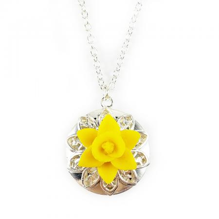 Daffodil Locket Necklace