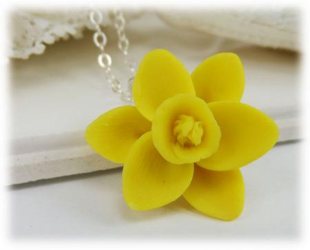 Yellow Daffodil Necklace