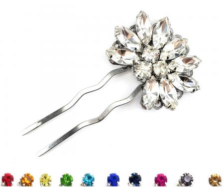 Fan Rhinestone Hair Fork