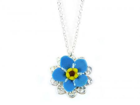 Forget Me Not Charm Necklace