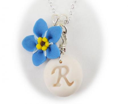 Forget Me Not Initial Necklace