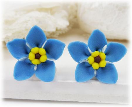 Forget Me Not Stud Earrings & Clip On Earrings