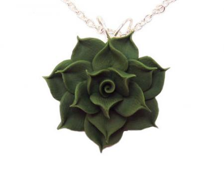 Green Succulent Necklace