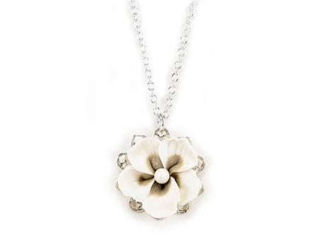 Hibiscus Charm Necklace