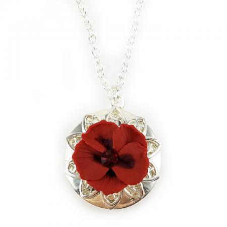 Hibiscus Locket Necklace