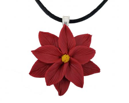 Large Poinsettia Choker Necklace