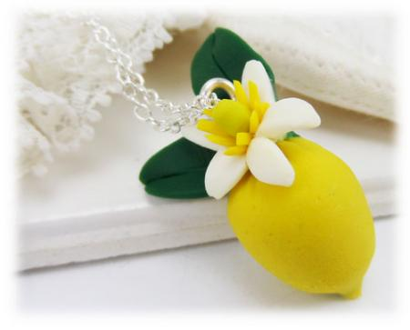 Citrus Lemon Necklace