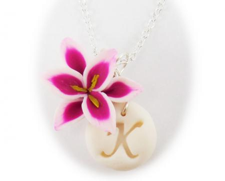 Lily Initial Necklace