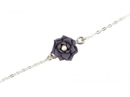 Purple Lotus Ankle Bracelet