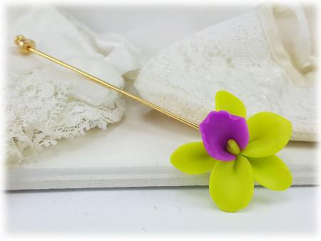 Orchid Stick Pin Lapel