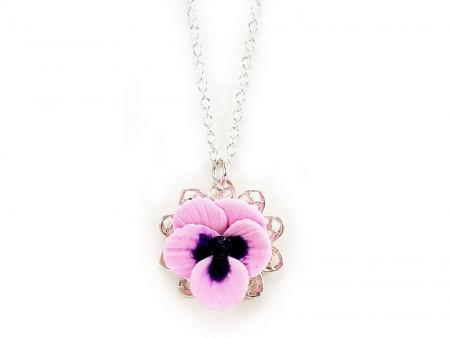 Pansy Charm Necklace