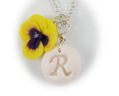 Pansy Initial Necklace