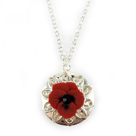 Pansy Locket Necklace