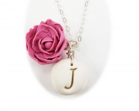 Peony Initial Necklace