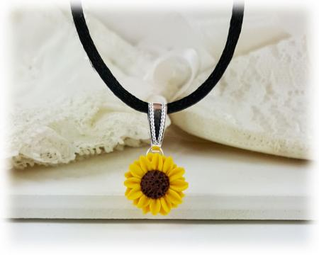 Petite Sunflower Choker Necklace