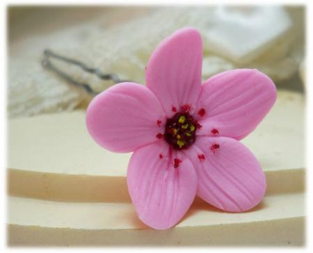 Pink Cherry Blossom Hair Pins