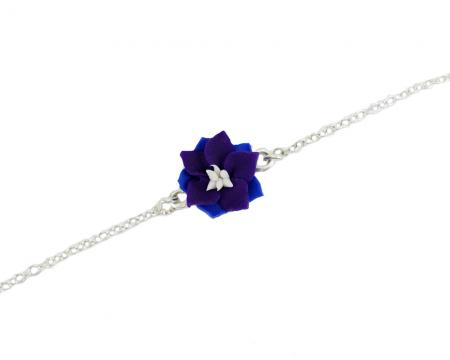 Purple Larkspur Anklet or Bracelet