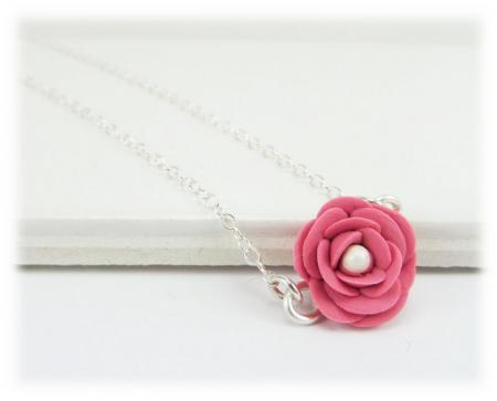 Tiny Camellia Simple Necklace