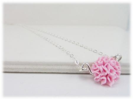 Tiny Carnation Necklace