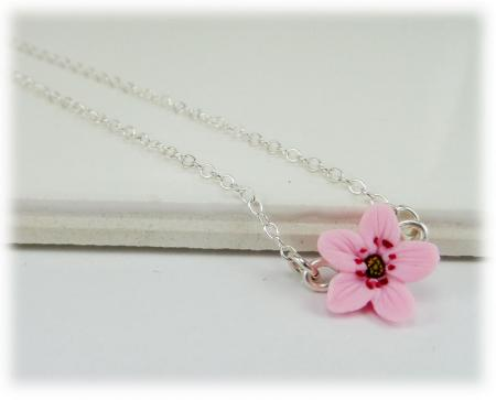 Tiny Cherry Blossom Simple Necklace