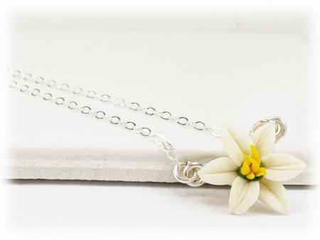 Tiny Easter Lily Necklace