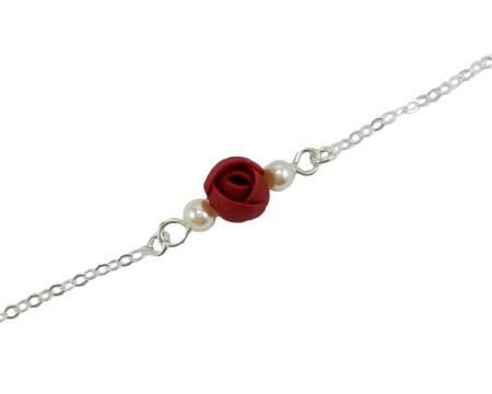 Tiny Flower Anklet or Bracelet