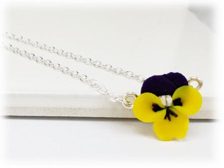 Tiny Johnny Jump Up Simple Necklace
