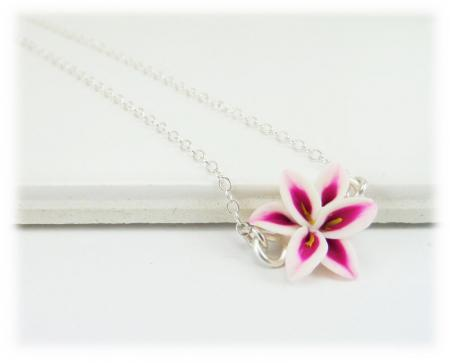 Pink Lily Simple Necklace