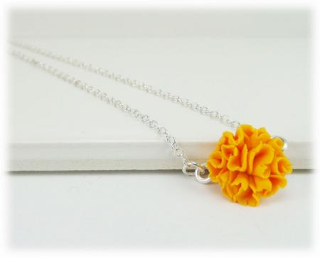 Tiny Marigold Simple Necklace